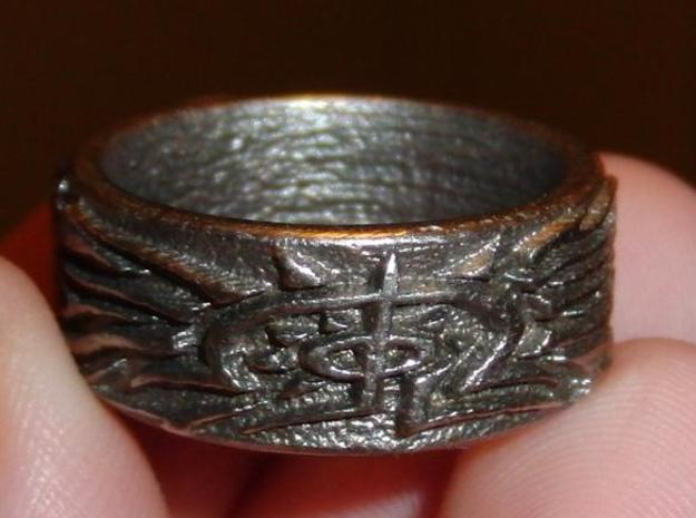 Eldritch Ring - Finger - Size 11.5 3d printed Printed in Steel