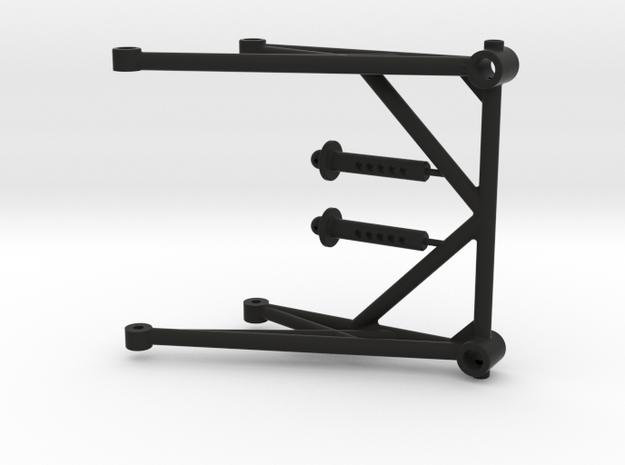 JConcepts - Cube Body Mount in Black Natural Versatile Plastic