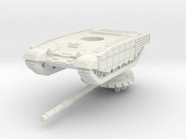 1/100 T-72B3M (cage armour) in White Strong & Flexible