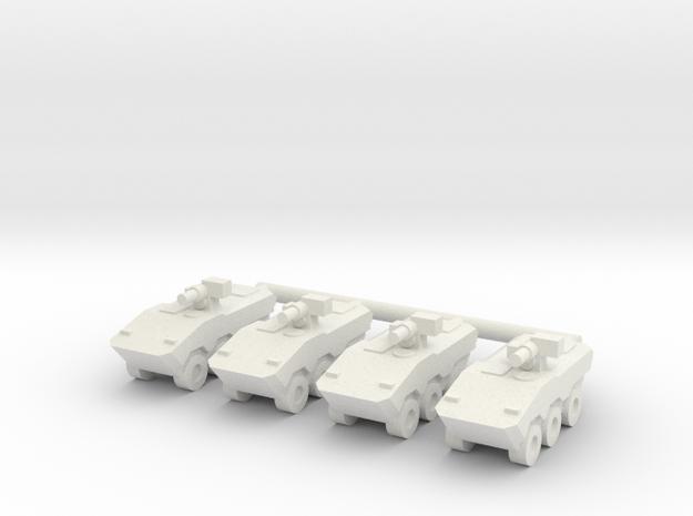 1/144 VBTP-MR Guarani (30mm) (x4) in White Natural Versatile Plastic