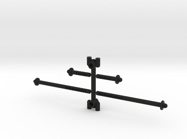 2297 - JConcepts - Axial SMT10 rear body mount  in Black Natural Versatile Plastic