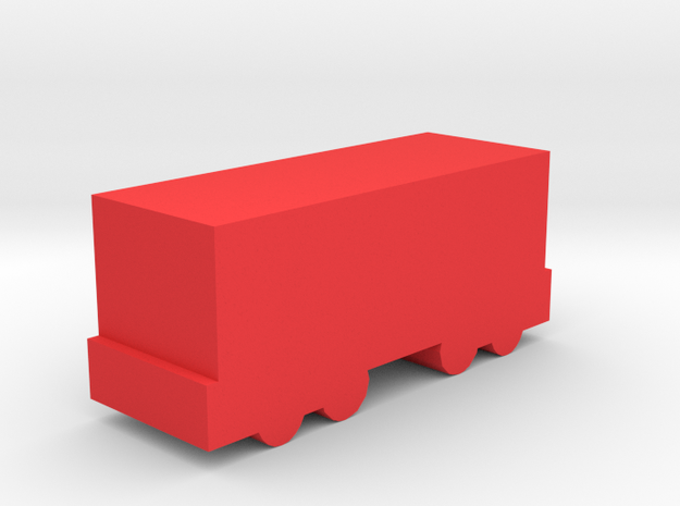 Game Piece, Freight Train Box Car in Red Processed Versatile Plastic