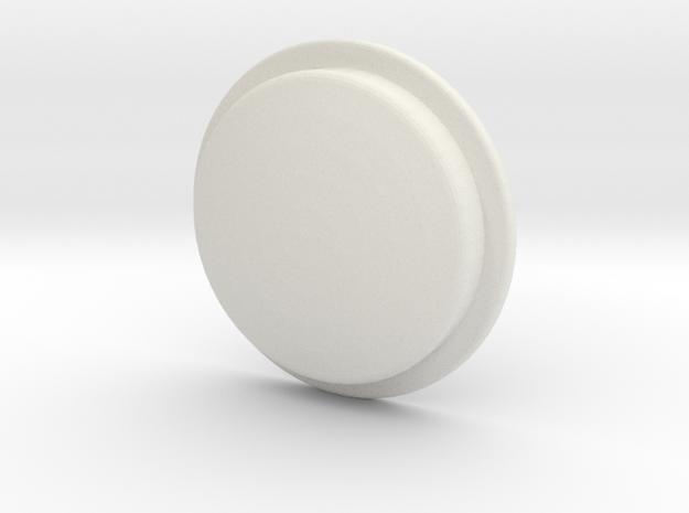 TLF# -  Shabby Button in White Natural Versatile Plastic
