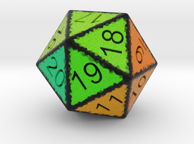 20 Sided Count Down Dice in Full Color Sandstone