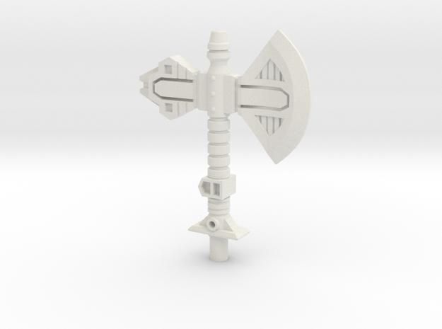 Vibro-Axe for Titans Return Broadside in White Natural Versatile Plastic