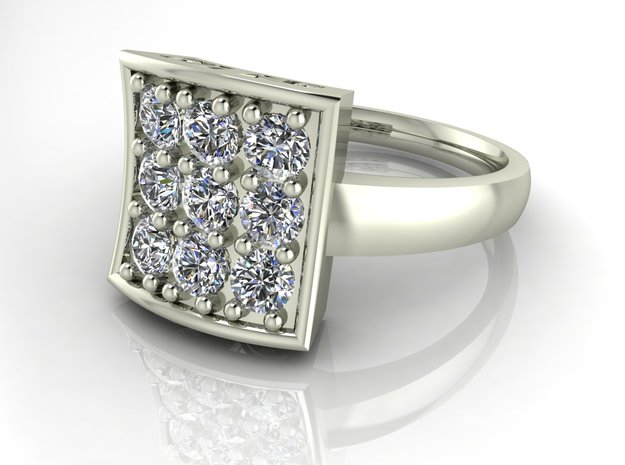 Fancy dress ring NO STONES SUPPLIED in Premium Silver