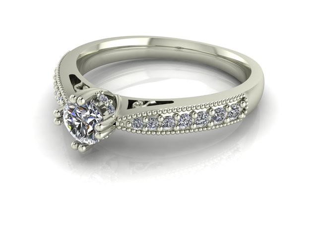 Classic Solitaire 17 NO STONES SUPPLIED in Fine Detail Polished Silver
