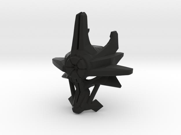 Mask Of Ultimate Power in Black Natural Versatile Plastic