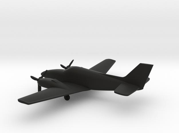 Beechcraft Baron G58 in Black Strong & Flexible: 1:144