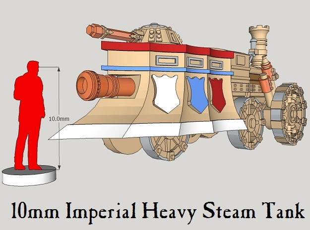 10mm Imperial Heavy Steam Tank (1pcs) in White Acrylic