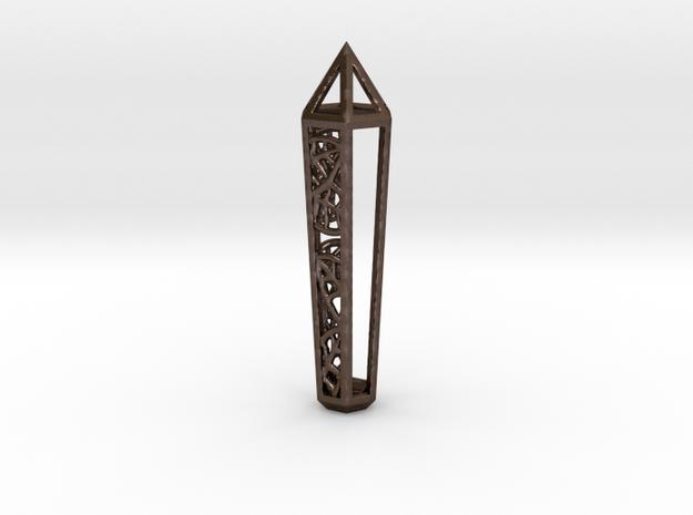 Leaf Crystal in Polished Bronze Steel