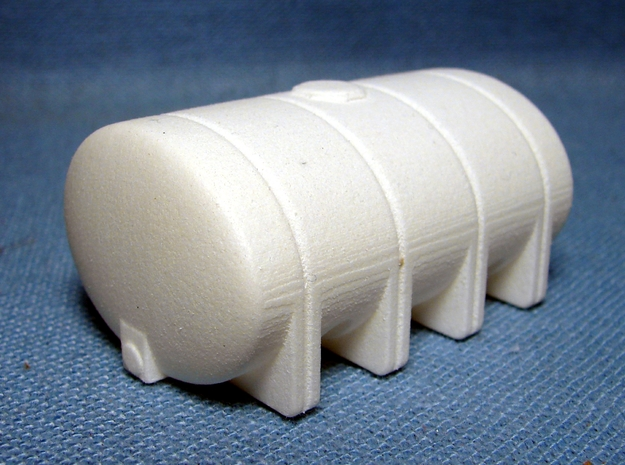"1/64th ""S"" Scale 2635 Gal Elliptical Leg Tank in White Strong & Flexible Polished"