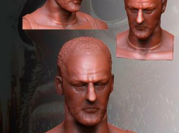 Jean Reno as Leon - 10cm tall 3d printed Jean Reno as Leon