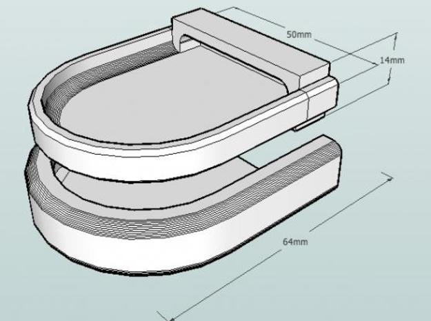 Rounded Box 2 3d printed Dimensions