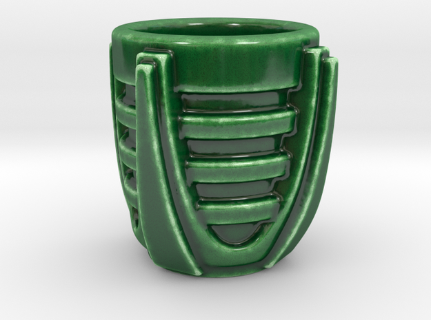Sci Fi Cup 01 in Gloss Oribe Green Porcelain