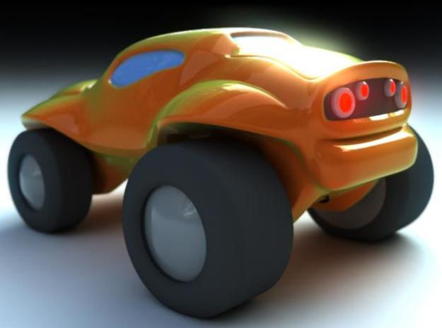 Toy Buggy 3d printed Rear Render