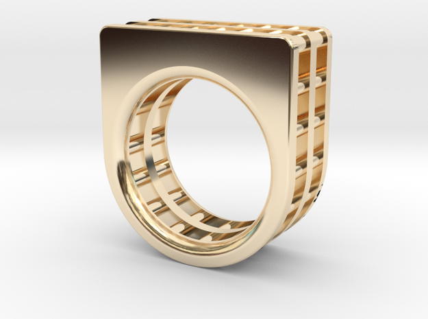 CHAIN RING SIZE 7 in 14k Gold Plated Brass