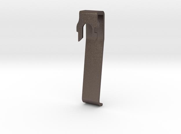 Leatherman Pocket Clip in Polished Bronzed Silver Steel