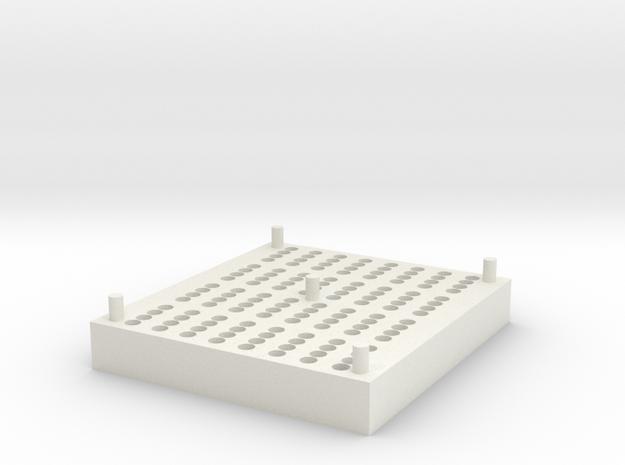RotoGene® Strip Tube Storage Block in White Strong & Flexible