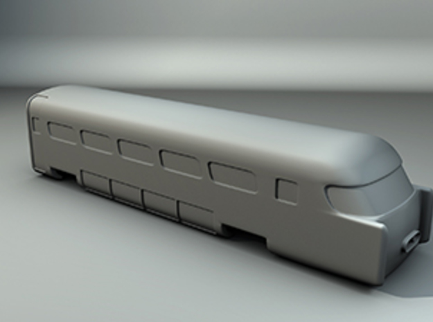 Aerotrain Wagon Tail Z scale in Frosted Ultra Detail