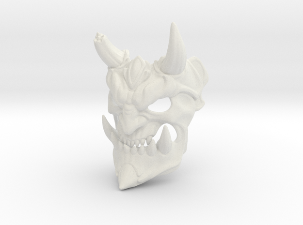 Demon mask in White Natural Versatile Plastic