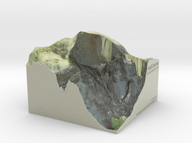 Yosemite - Half Dome Map: 6 inch in Coated Full Color Sandstone
