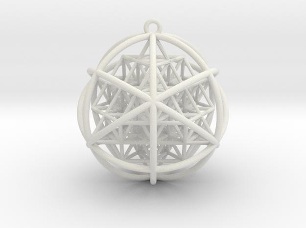 Planetary Merkaba w/ nested 64 Tetrahedron Grid