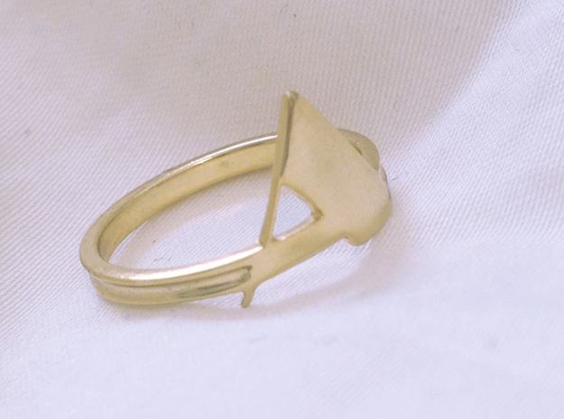 Arden Ring 3d printed gold plated brass
