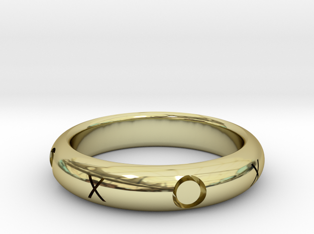 XOXO Ring in 18k Gold Plated: 10.25 / 62.125
