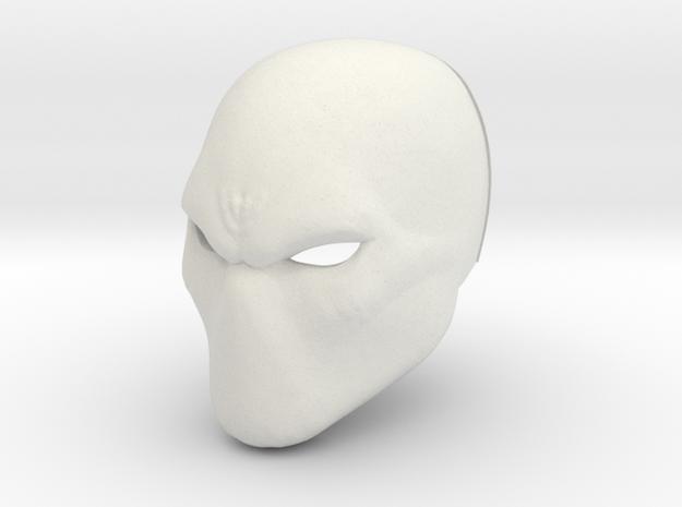 Basic hero/villan/anti-hero Helmet in White Strong & Flexible