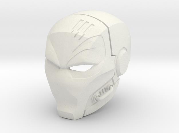 Deathstroke- The Terminator helmet in White Strong & Flexible