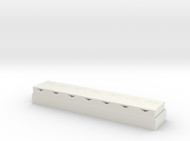 Braille Pill Box in White Natural Versatile Plastic