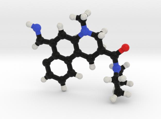 LSD Molecule Model. 3 Sizes. in Full Color Sandstone: 1:10