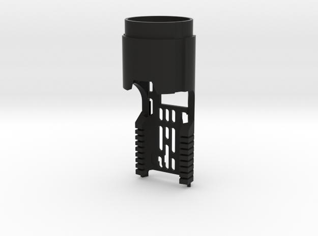 Korbanth DV6 Main Chassis - CF/PC (FF Speaker) in Black Natural Versatile Plastic