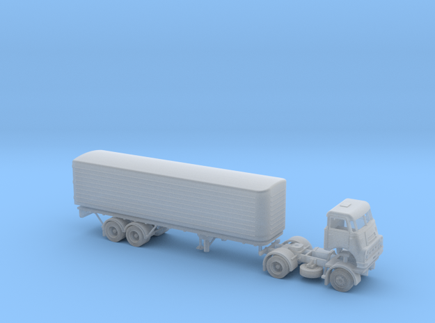 N scale DAF DO 2400 with DAF Eurotrailer in Frosted Ultra Detail
