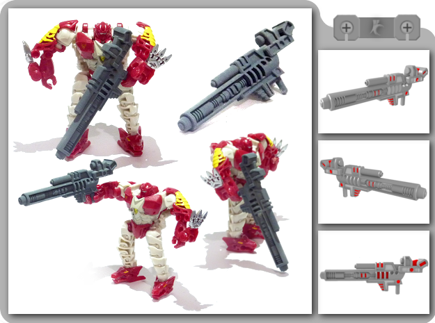 Legion TFP Hun-Gurr Blaster in White Strong & Flexible