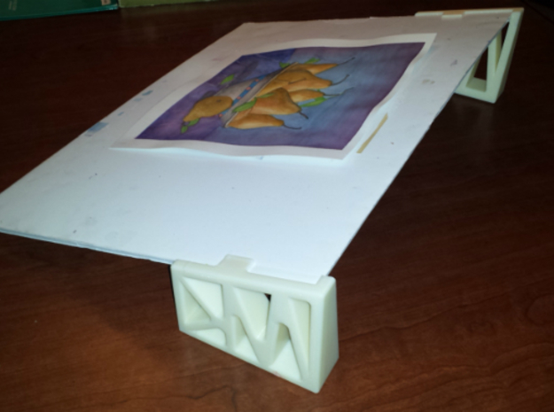 Art Stand - RH and LH 3d printed Stand assembled with both Parts Ivory FDM