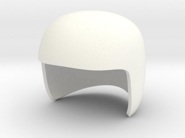 MK2 Helmet V15 in White Strong & Flexible Polished
