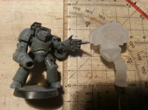 Schwerer Tauch-bot / Heavy Dive-bot (6mm ball) 03 in Smooth Fine Detail Plastic