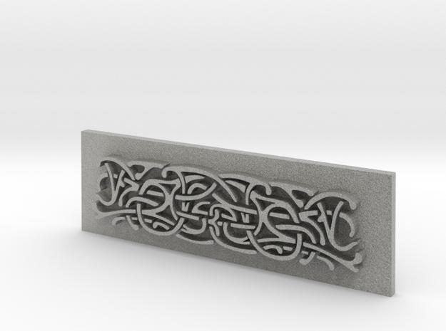 Thor Hammer (Mjolnir) Scroll panel in Metallic Plastic