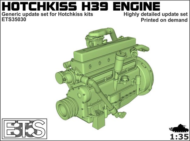 ETS35030 - Hotchkiss H39 Engine in Frosted Ultra Detail