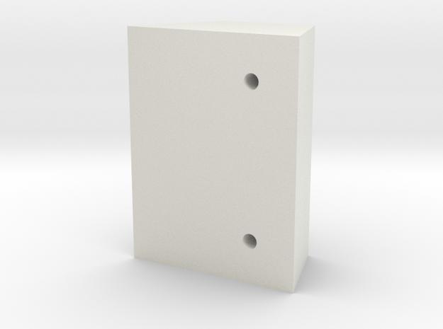 Bruder 574 Loader - FrontTopHolesTemplate in White Natural Versatile Plastic