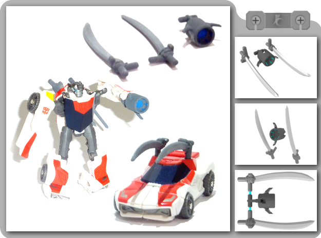 Legion Wheeljack Upgrade Kit in White Natural Versatile Plastic