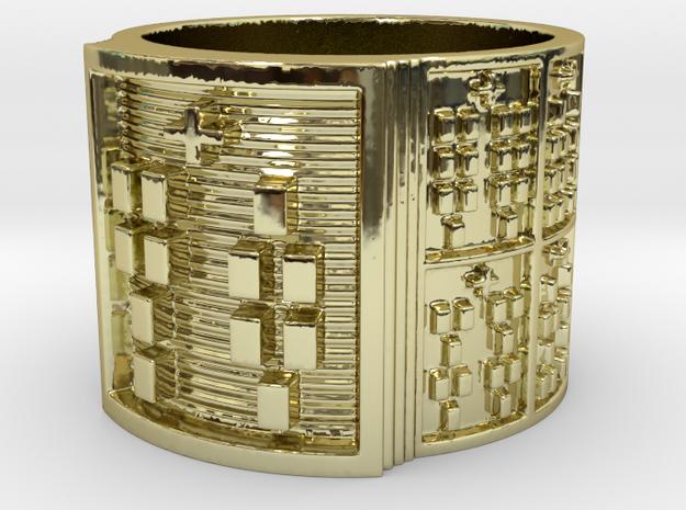 ODIJUANI Ring Size 13.5 in 18k Gold Plated Brass