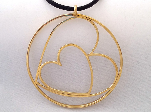 TWOJOIN PENDANT in Polished Brass