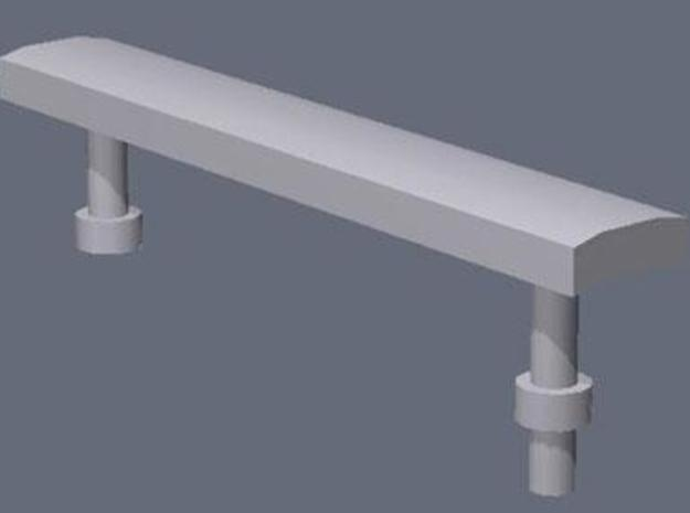 28mm/1:56th benches set 1 in White Natural Versatile Plastic