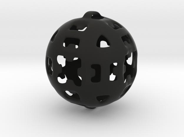 Pendant2 in Black Natural Versatile Plastic