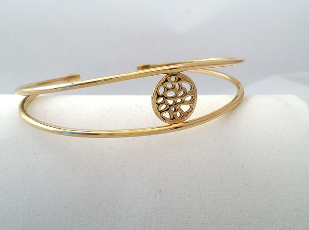 BRACELET MAGNETIC LOBULAR in Polished Brass