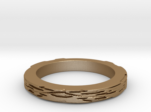 cheese leaves 3mmH Ring Size 8 in Matte Gold Steel