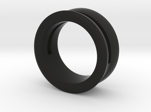 Modern+Offset Ring in Black Natural Versatile Plastic: 6 / 51.5